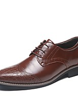 cheap -Men's Shoes Synthetic Patent Leather Spring Summer Formal Shoes Comfort Oxfords Stitching Lace Animal Print for Casual Office & Career