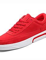 cheap -Men's Shoes PU Spring Fall Comfort Sneakers for Athletic Red Gray Black