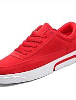 preiswerte -Herren Schuhe PU Frühling Herbst Komfort Sneakers für Sportlich Schwarz Grau Rot