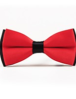 cheap -Men's Polyester Bow Tie,Simple Casual Solid Color All Seasons Red