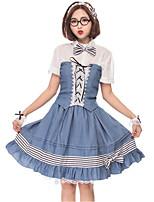 abordables -Traje de Camarera Oktoberfest Una Sola Pieza Vestidos Disfrace de Cosplay Accesorios lolita Guantes Mujer Halloween Carnaval Año Nuevo