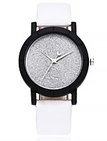cheap -Women's Fashion Watch Wrist watch Chinese Quartz Large Dial Leather Band Casual Minimalist Black White Blue Orange Green Rose Clover