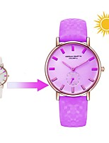 cheap -Women's Fashion Watch Japanese Quartz Casual Watch Genuine Leather Band Casual White Blue Red Purple