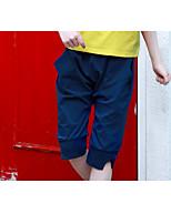 preiswerte -Mädchen Shorts Solide Polyester Sommer Niedlich Aktiv Königsblau
