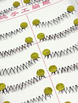 Недорогие -10 Ресницы Ресницы Нижние ресницы Ресницы Перекрещивающиеся реснички Натуральный Ручная работа Волокно Transparent Band 0.07mm
