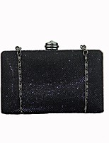 cheap -Women Bags Polyester Evening Bag Crystal Detailing for Wedding Event/Party All Season Black