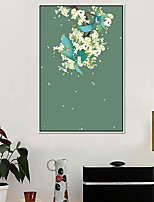 Floral/Botanical Oil Painting Wall Art,Alloy Material With Frame For Home Decoration Frame Art Kitchen Dining Room