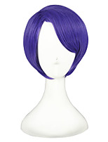 cheap -Women Synthetic Wig Short Kinky Straight Purple Cosplay Wig Costume Wig