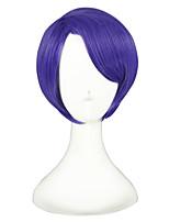 abordables -Mujer Pelucas sintéticas Corto Liso Natural Morado Peluca de cosplay Pelucas para Disfraz