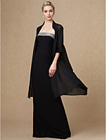 cheap -Half Sleeves Chiffon Wedding Party / Evening Women's Wrap With Lace-up Capes