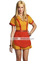 cheap -2 Broke Girls Vintage 1950s Costume Women's Party Costume Masquerade Yellow Vintage Cosplay Polyester Short Sleeves T-shirt Mid Thigh