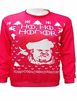 cheap -Hodor Ugly Christmas Sweater / Sweatshirt Male Christmas Festival / Holiday Halloween Costumes Red Blue Black printing