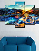 Canvas Set Classic,Four Panels Canvas Vertical Panoramic Print Wall Decor Home Decoration