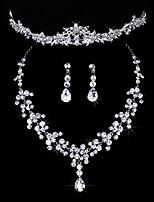 economico -Per donna Set di gioielli Classico Matrimonio Feste Diamanti d'imitazione 1 collana Orecchini