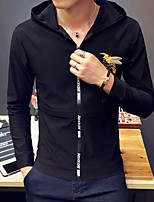 cheap -Men's Casual/Daily Hoodie Print Hooded Micro-elastic Cotton Long Sleeve Fall