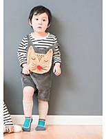 cheap -Boys' Print Clothing Set,Cotton Spring Fall Long Sleeve Cute Gray