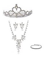 cheap -Women's Bridal Jewelry Sets Y-Necklace Rhinestone Fashion European Wedding Party Imitation Diamond Alloy Butterfly Body Jewelry 1