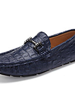 cheap -Men's Shoes Real Leather Winter Fall Comfort Loafers & Slip-Ons for Casual Blue Brown Black White