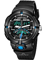 Men's Sport Watch Japanese Quartz Casual Watch PU Band Casual Black Green Grey