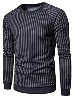 cheap -Men's Daily Sweatshirt Print Round Neck Micro-elastic Cotton Long Sleeve Winter Autumn/Fall