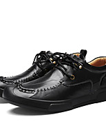cheap -Men's Shoes Cowhide Winter Fall Comfort Oxfords for Casual Burgundy Light Brown Black