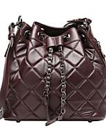 cheap -Women Bags PU Shoulder Bag Zipper for Casual All Season Dark Brown Black