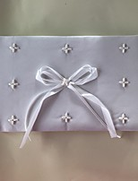 cheap -Satin Romance Fantacy WeddingWithFaux Pearl 1 Package Box Guest Book