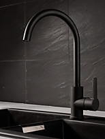 cheap -Contemporary Tall/­High Arc Centerset Ceramic Valve Single Handle One Hole Kitchen faucet