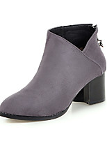 cheap -Women's Shoes Nubuck leather Winter Fall Comfort Novelty Fashion Boots Boots Chunky Heel Pointed Toe Booties/Ankle Boots Mid-Calf Boots
