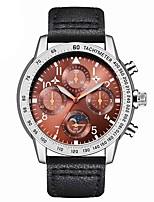 abordables -Hombre Niños Reloj Deportivo Reloj de Moda Reloj creativo único Chino Cuarzo Calendario Cronógrafo Resistente al Agua Reloj Casual Fase