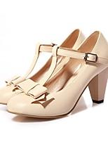 Недорогие -Для женщин Обувь Материал на заказ клиента Весна Осень Удобная обувь Светодиодные подошвы Обувь на каблуках На толстом каблуке Круглый