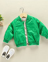Girls' Solid Down & Cotton Padded,Cotton Bamboo Fiber Spandex Long Sleeves Simple Green Yellow