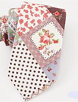 cheap -Men's Cotton Necktie,Work Casual Jacquard All Seasons Blushing Pink