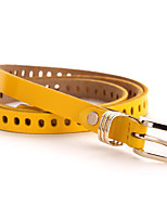 cheap -Women's Alloy Waist Belt,Yellow Camel Red Black White Vintage Work Casual Hollow Out