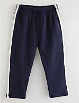 economico -Pantaloni Da ragazza Cotone A strisce Inverno Rosa Blu marino