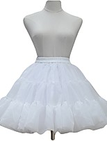cheap -Sweet Lolita Dress Princess Lolita Women's Girls' Skirt Petticoat Cosplay Black White Sleeveless Long Sleeves Ankle Length