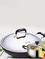 Plastic Stainless Steel Alloy Flat Pan Multi-purpose Pot,40*12