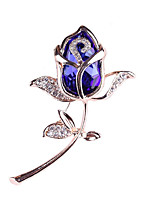 cheap -Women's Brooches Crystal Fashion Crystal Alloy Flower Jewelry For Gift Daily