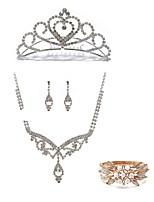 cheap -Women's Tiaras Bridal Jewelry Sets Rhinestone Fashion European Wedding Party Pearl Imitation Diamond Alloy Body Jewelry 1 Necklace 1 Ring