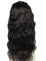 cheap -Luffy Unprocessed Brazilian Human Hair Wavy 13*6 Lace Front Wig 130% Density Pre Plucked Body Wave Front Lace Wig with Baby Hair Bleached Knots