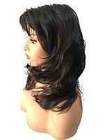 cheap -Women Synthetic Wig Medium Length Curly Dark Brown/Dark Auburn Celebrity Wig Natural Wigs Costume Wig