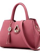 economico -Donna Sacchetti PU (Poliuretano) Tote Bottoni Ante / Nastri Cerniera per Shopping Casual Tutte le stagioni Blu Nero Rosso Rosa