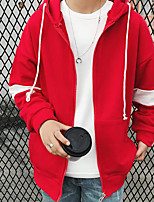 cheap -Men's Petite Casual/Daily Simple Hoodie Print Color Block Hooded Hoodies Micro-elastic Polyester Long Sleeve Autumn/Fall