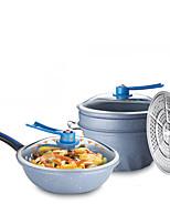 economico -Lega di alluminio Plastica Piatto Pan Pot multiuso,32
