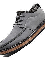cheap -Men's Shoes Nubuck leather Spring Fall Comfort Oxfords for Casual Yellow Gray Black