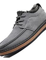 Недорогие -Для мужчин обувь Нубук Весна Осень Удобная обувь Туфли на шнуровке для Повседневные Черный Серый Желтый