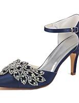 economico -Da donna Scarpe Raso elasticizzato Primavera Estate Decolleté scarpe da sposa A stiletto Appuntite Cristalli per Formale Serata e festa