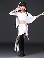 cheap -Shall We Belly Dance Outfits Children's Training Polyester Split Bandage 3/4 Length Sleeve Dropped Skirts Tops
