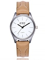 cheap -Women's Fashion Watch Wrist watch Chinese Quartz Large Dial Genuine Leather Band Casual Minimalist Black Blue Red Brown Beige