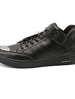 cheap -Men's Shoes Leather Spring Fall Comfort Sneakers for Casual Silver Black White